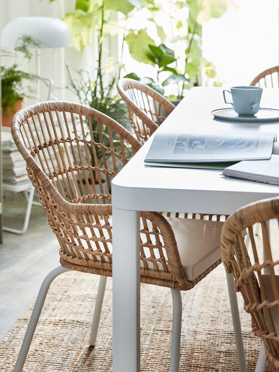 Rattan Tisch Mit 4 Stühlen