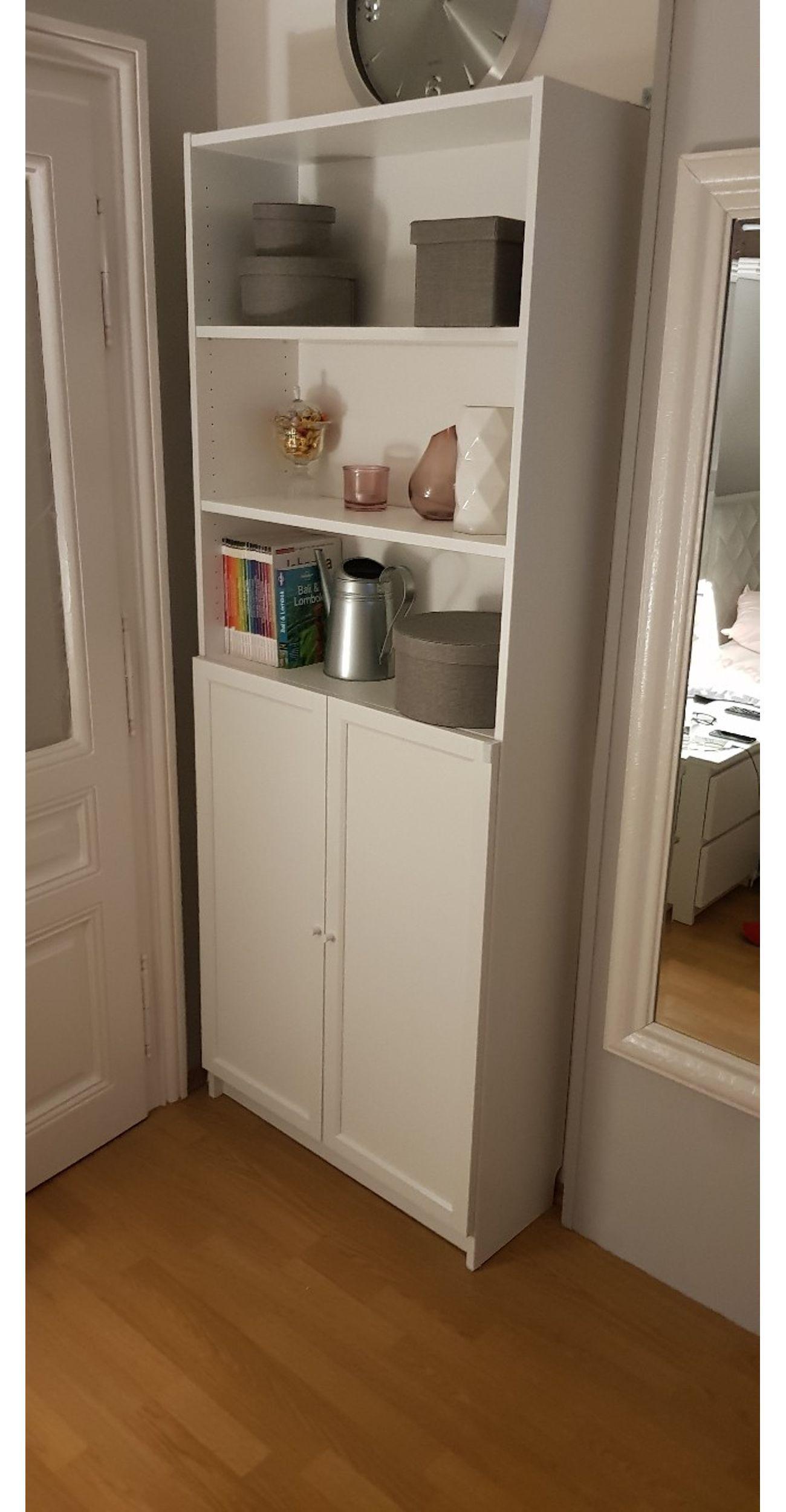 Regal Schrank Weiß Mit Türen
