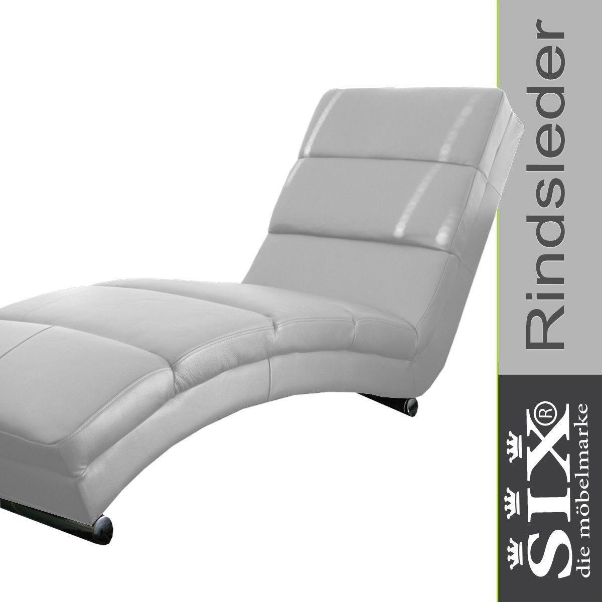 Relaxliege Leder Weiß