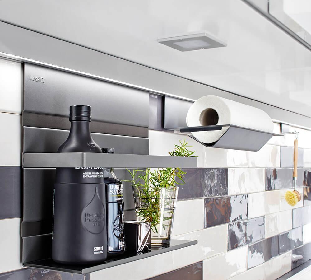 Relingsystem Küche Schwarz