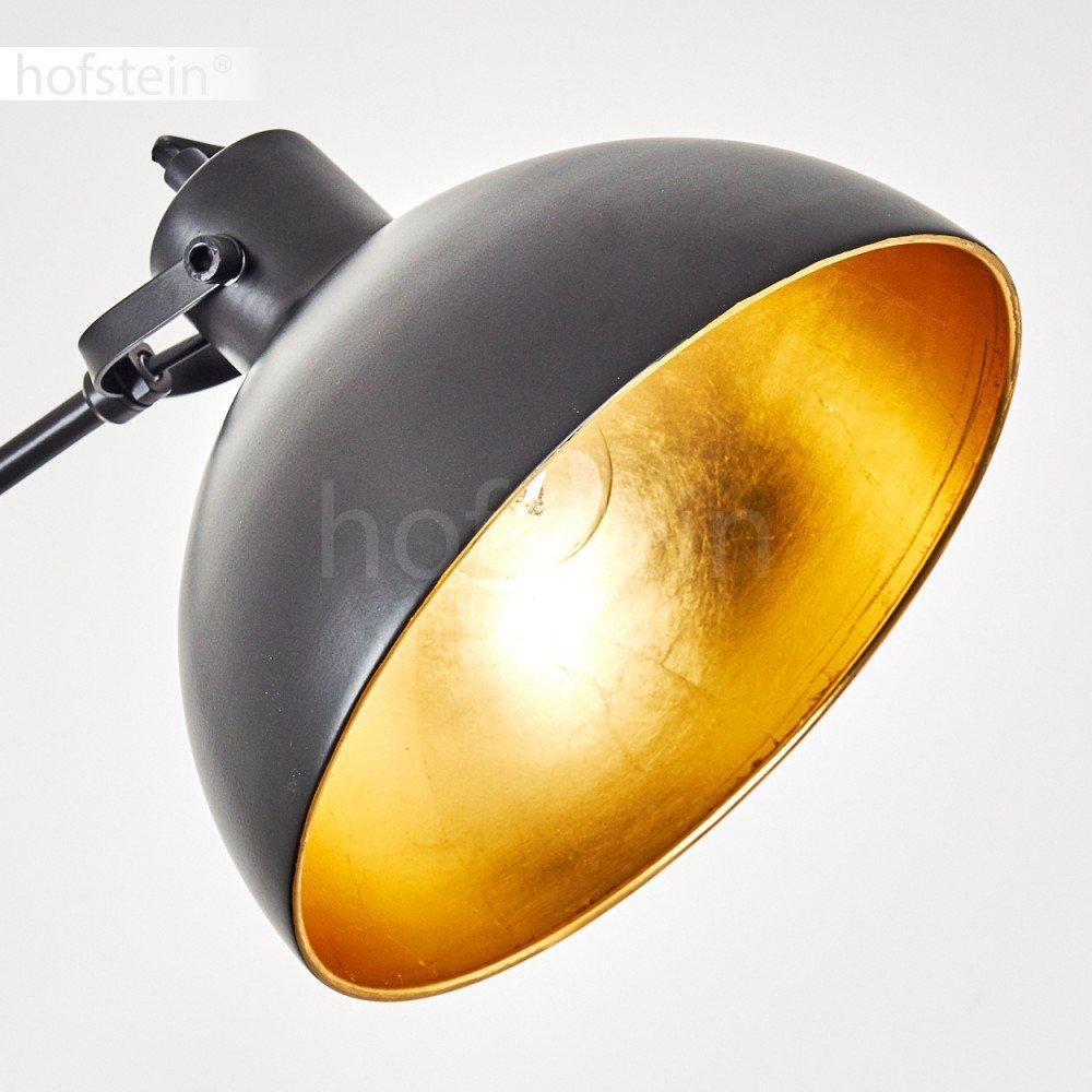 Retro Stehlampe Schwarz Gold