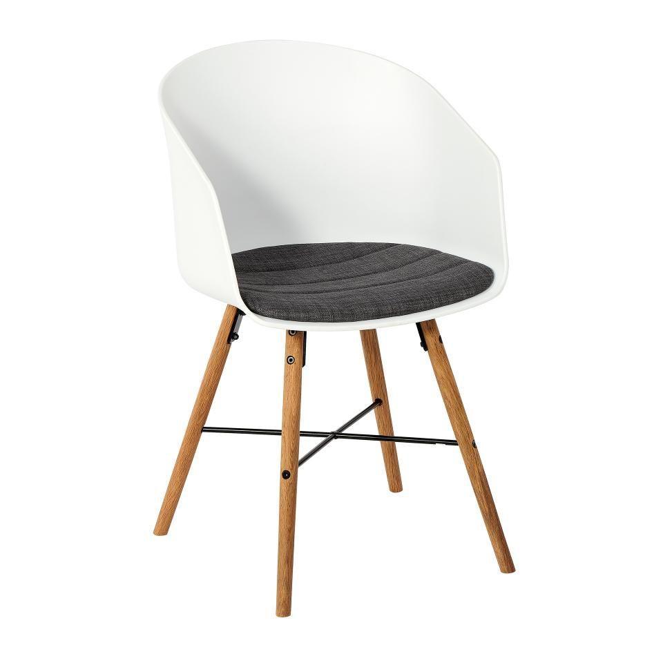 Retro Stuhl Weiß Holz