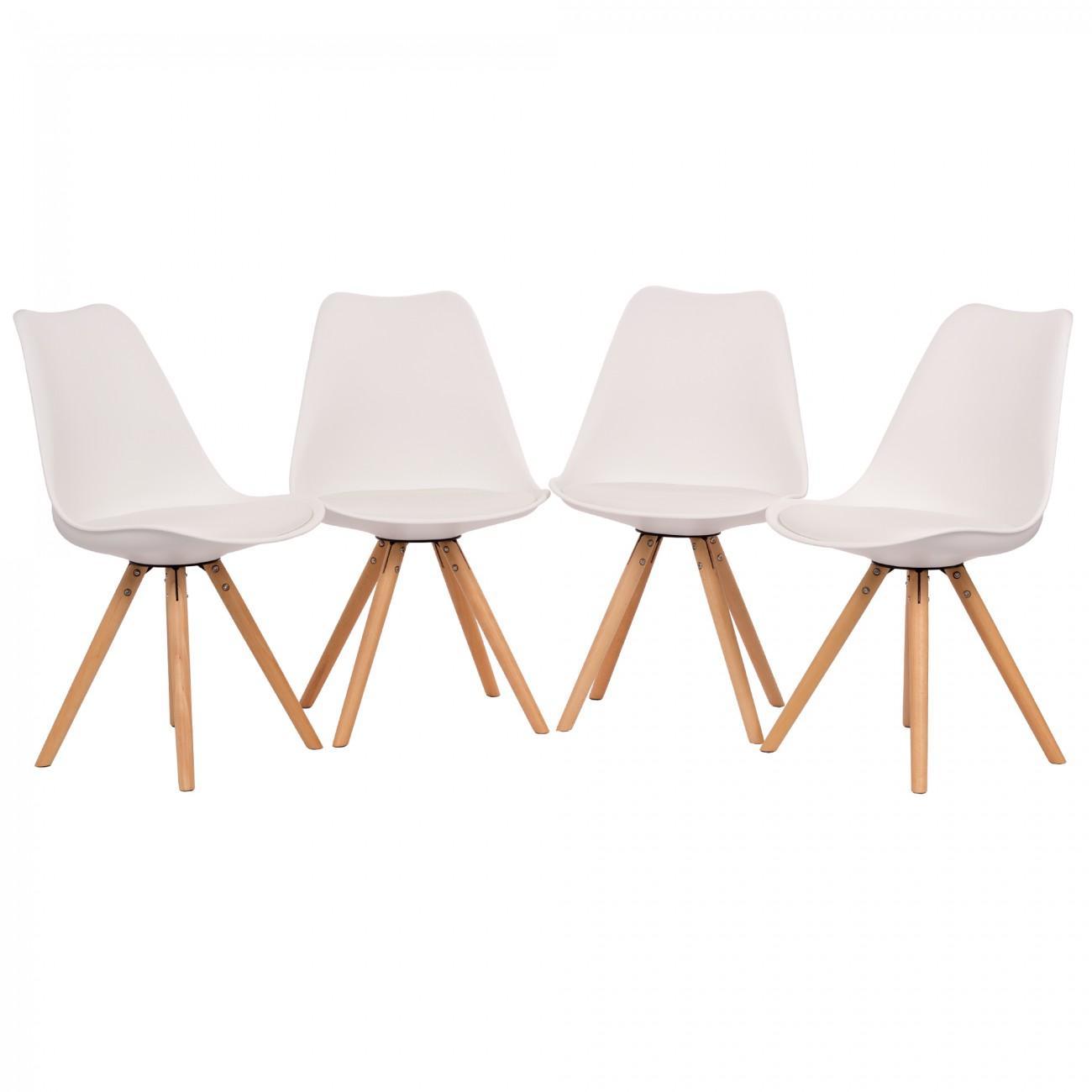 Retro Stuhl Weiß