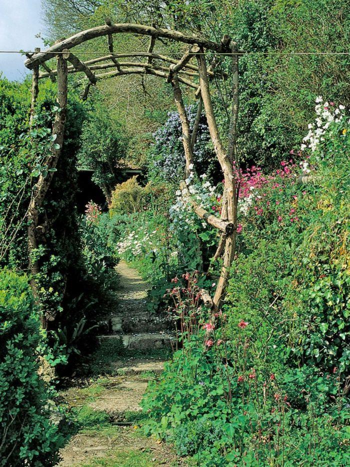 Rosenbogen Holz Eigenbau