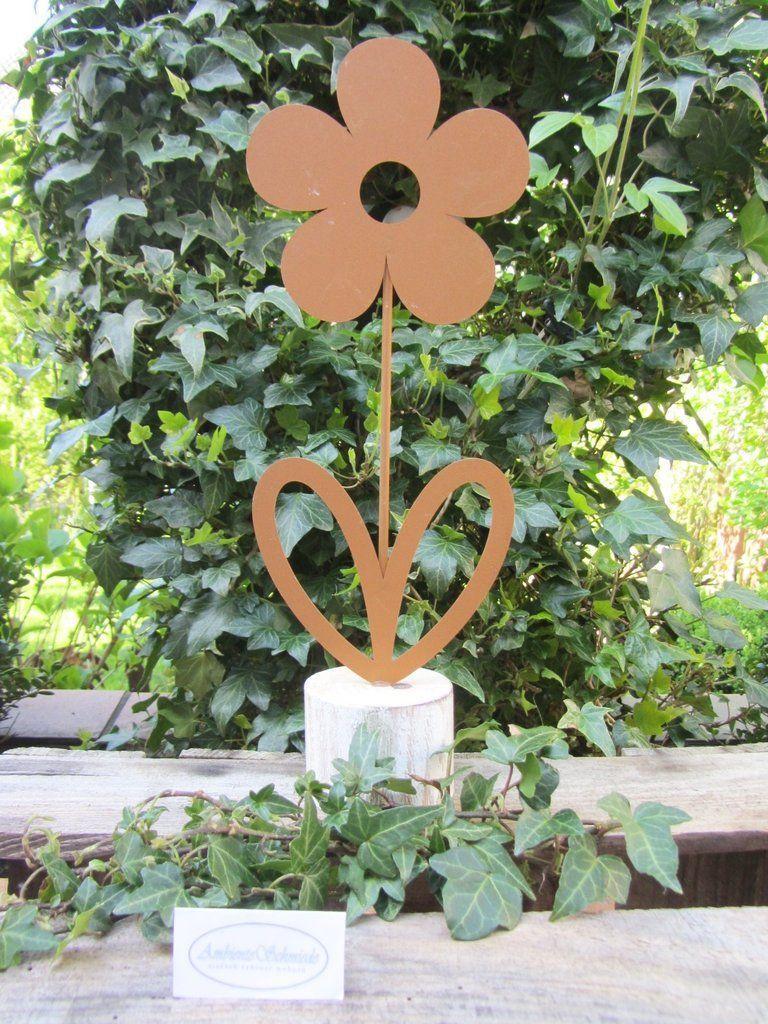 Rost Deko Garten Blume