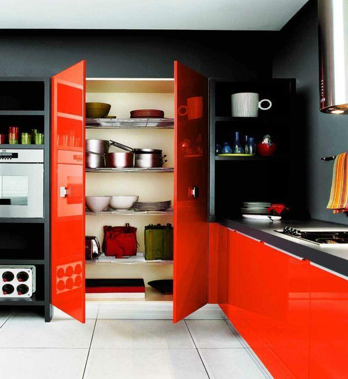 Rote Küche Welche Wandfarbe