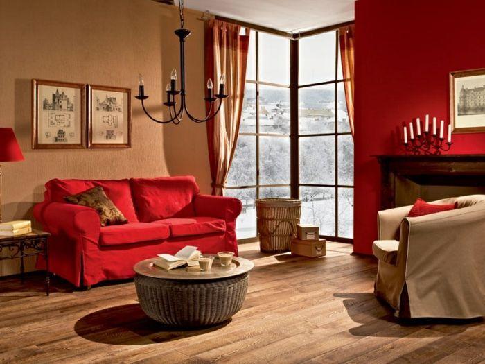 Rotes Wohnzimmer Ideen