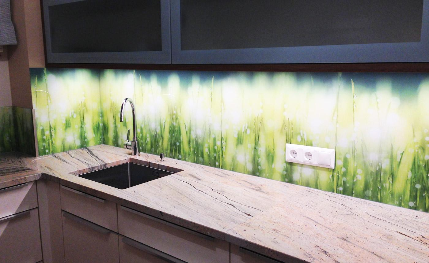 Rückwand Küche Glas Foto