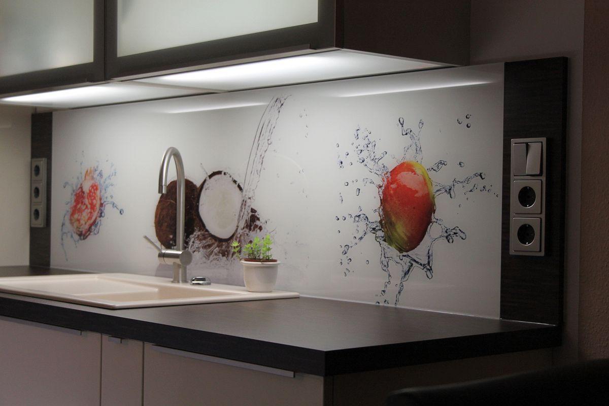Rückwand Küche Glas Motiv