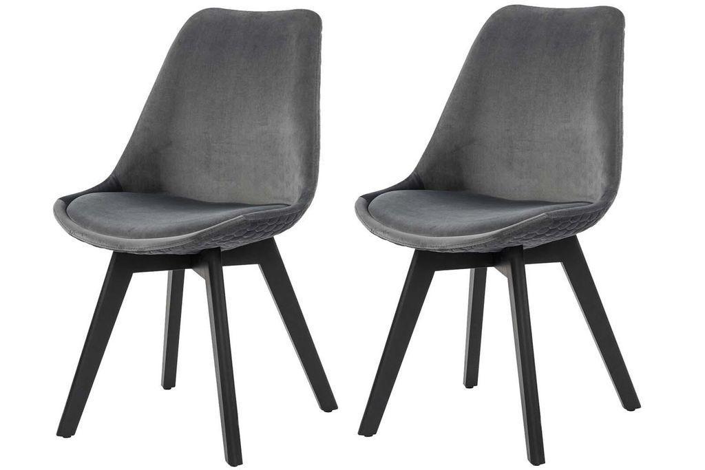 Samt Grau Stuhl