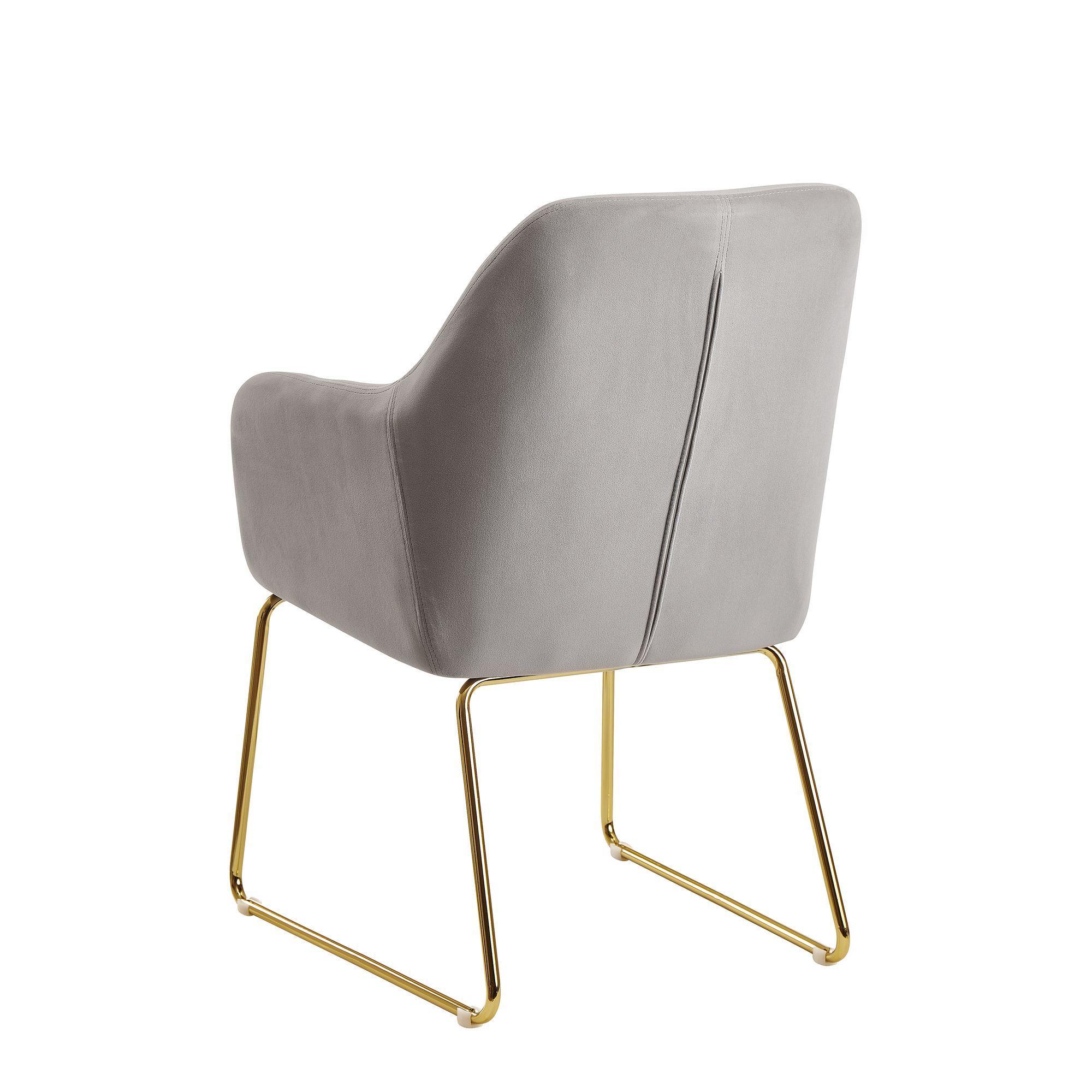Samt Stuhl Beige