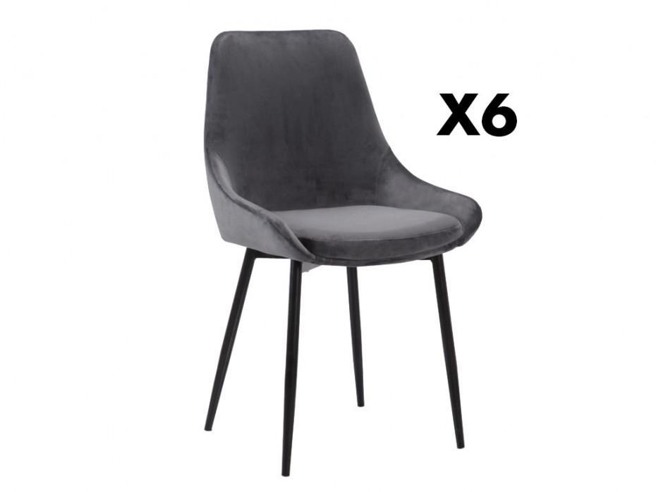 Samt Stuhl Grau