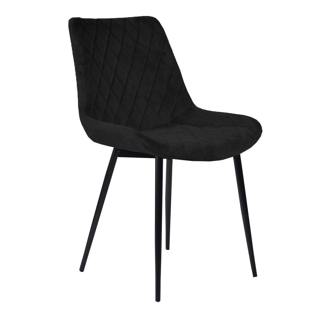 Samt Stuhl Schwarz