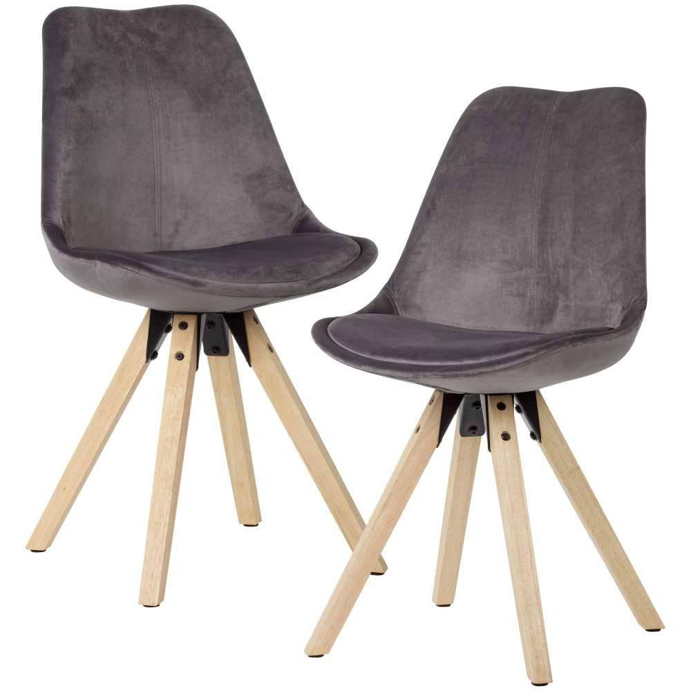 Samt Stühle Grau
