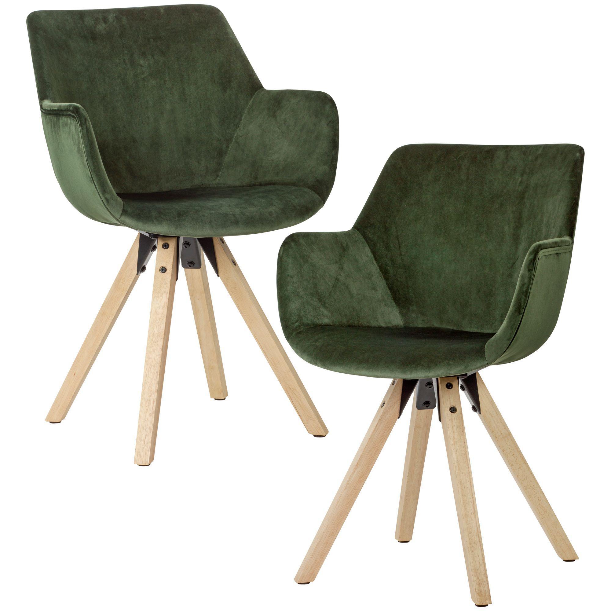 Samt Stühle Grün