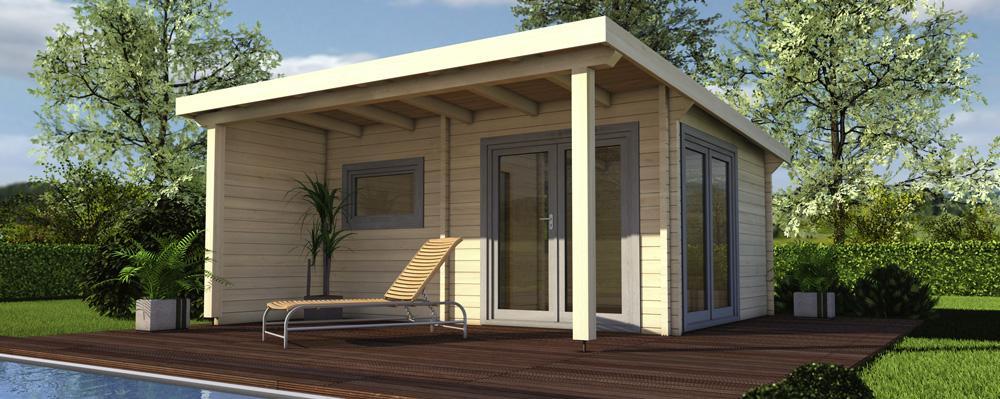 Sauna Gartenhaus Klein