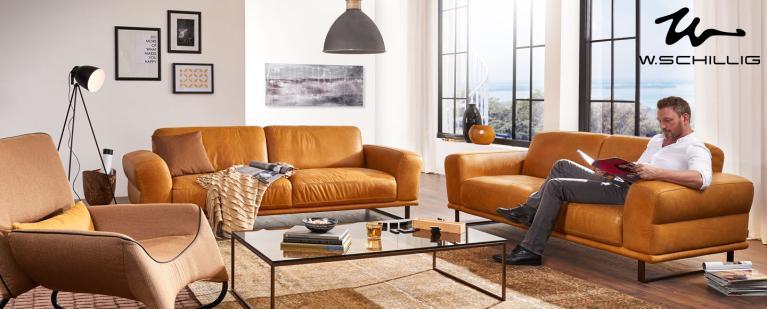 Schillig Sofa Leder