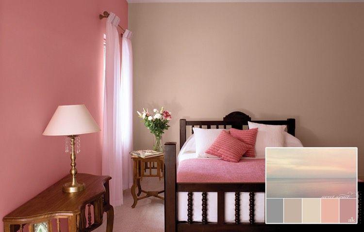 Schlafzimmer Altrosa Braun