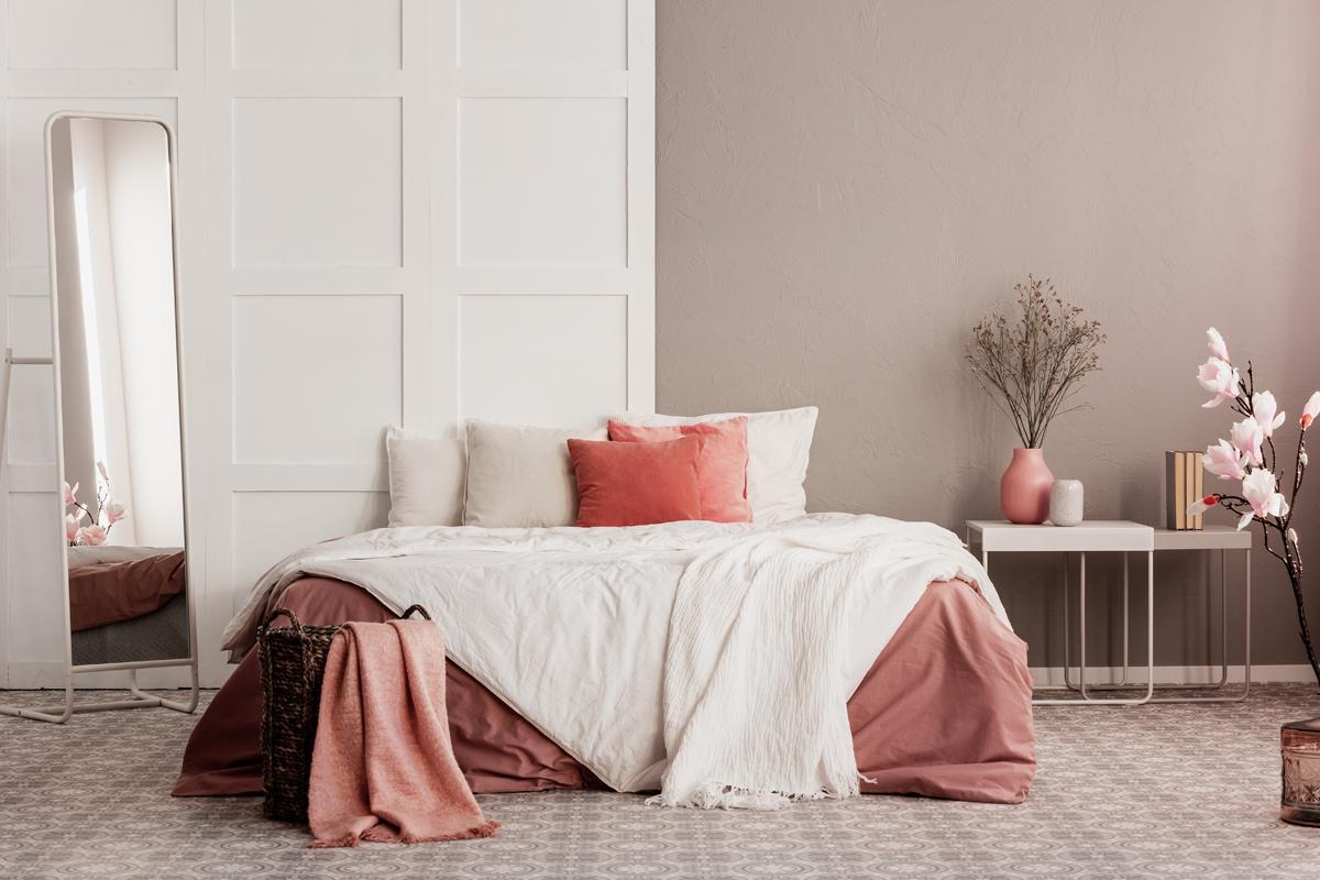 Schlafzimmer Altrosa Farbe
