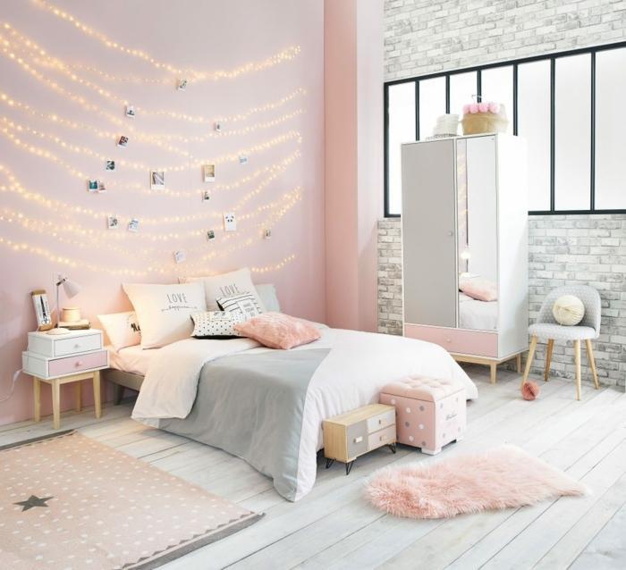 Schlafzimmer Altrosa Wand