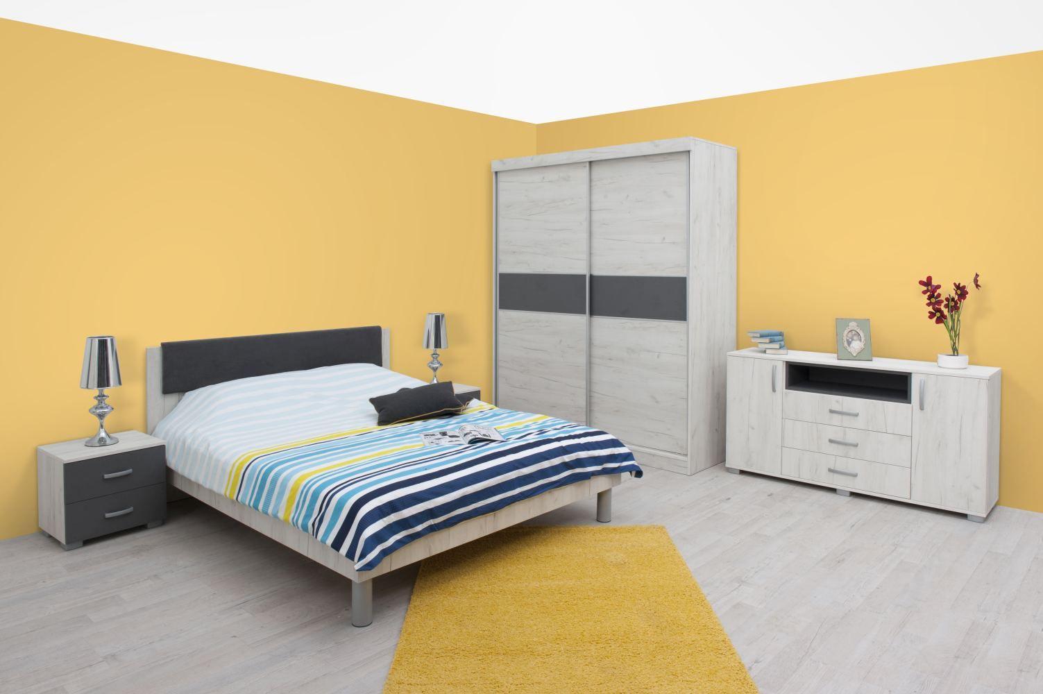 Schlafzimmer Anthrazit Weiß