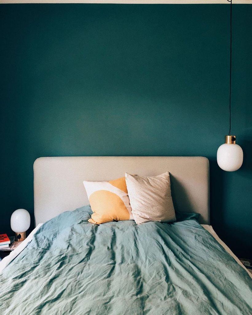 Schlafzimmer Blau Grün