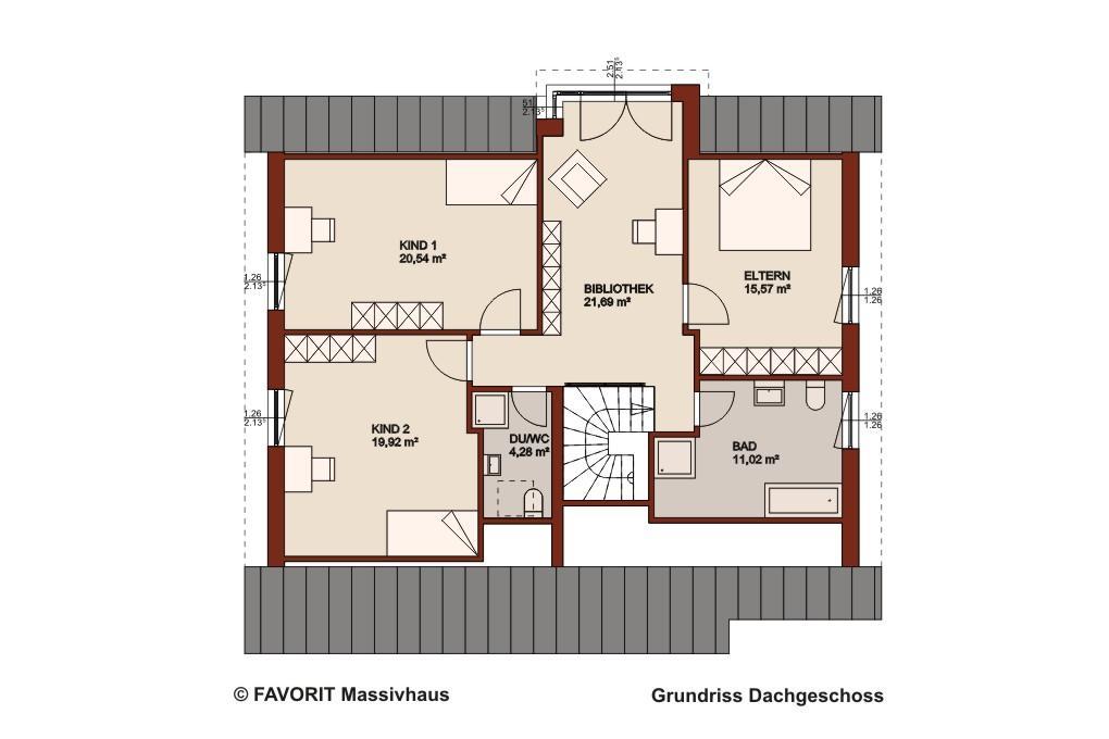 Schlafzimmer Dachgeschoss Grundriss