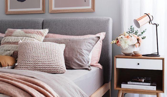 Schlafzimmer Einrichten Grau Rosa