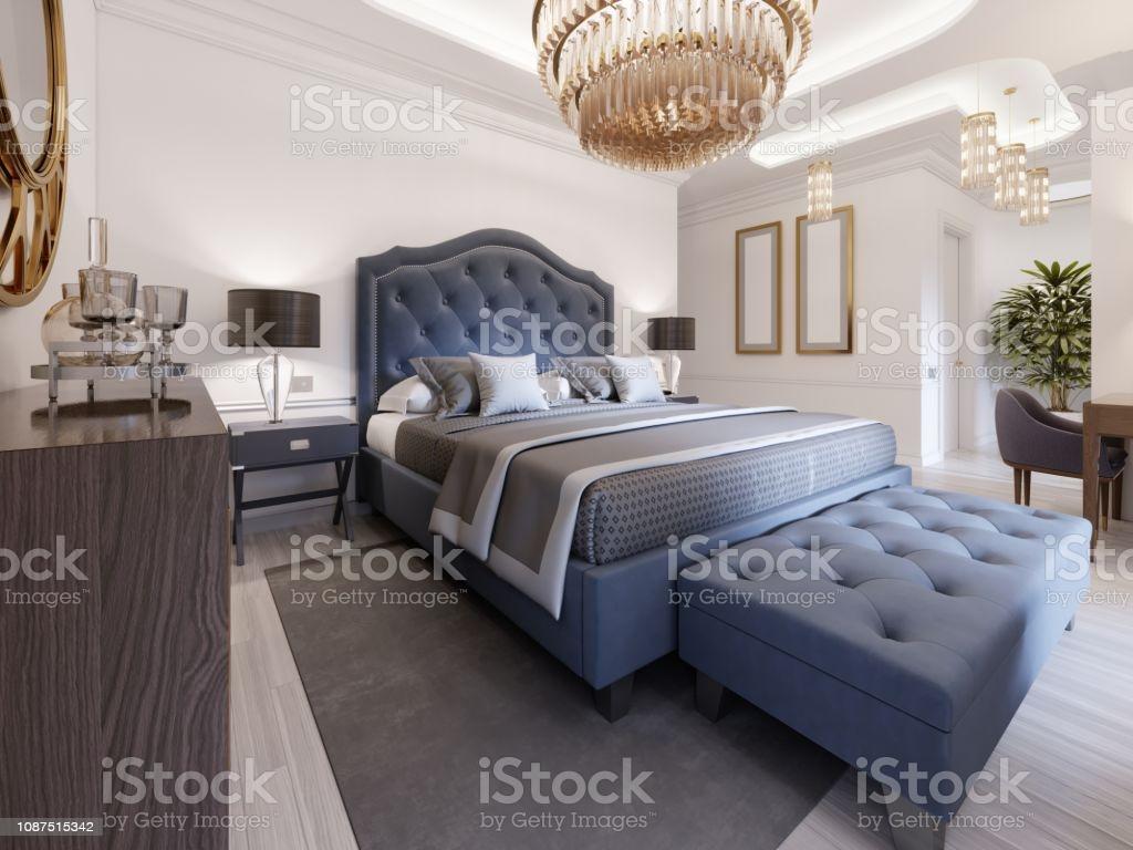 Schlafzimmer Gold Blau