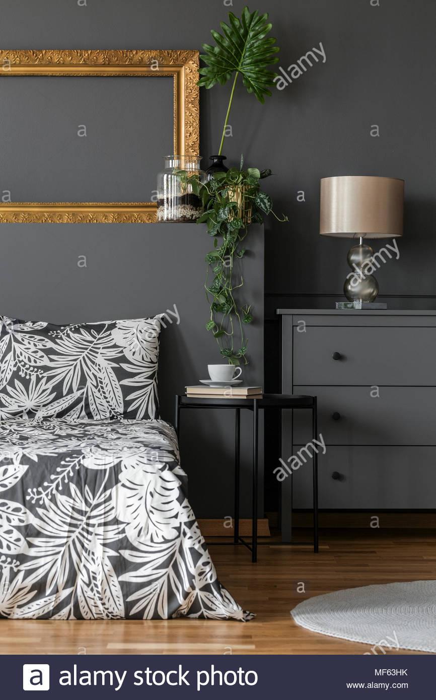Schlafzimmer Gold Grau