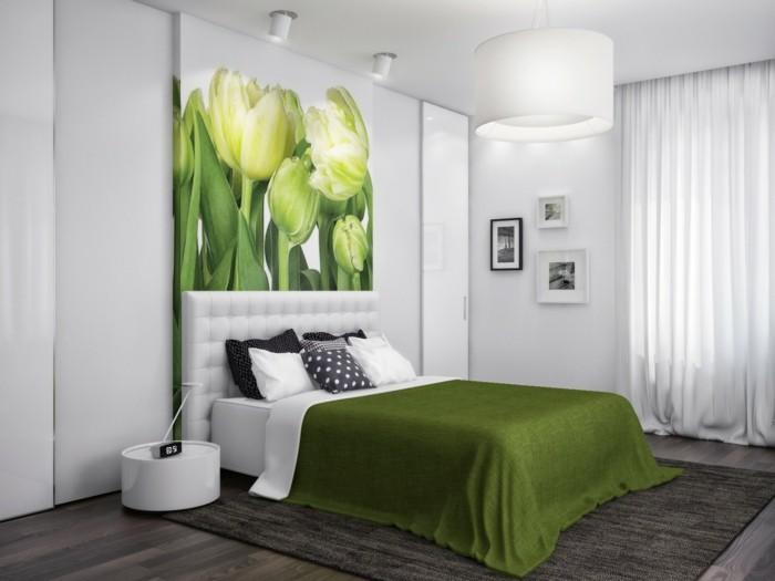Schlafzimmer Grau Weiß Grün