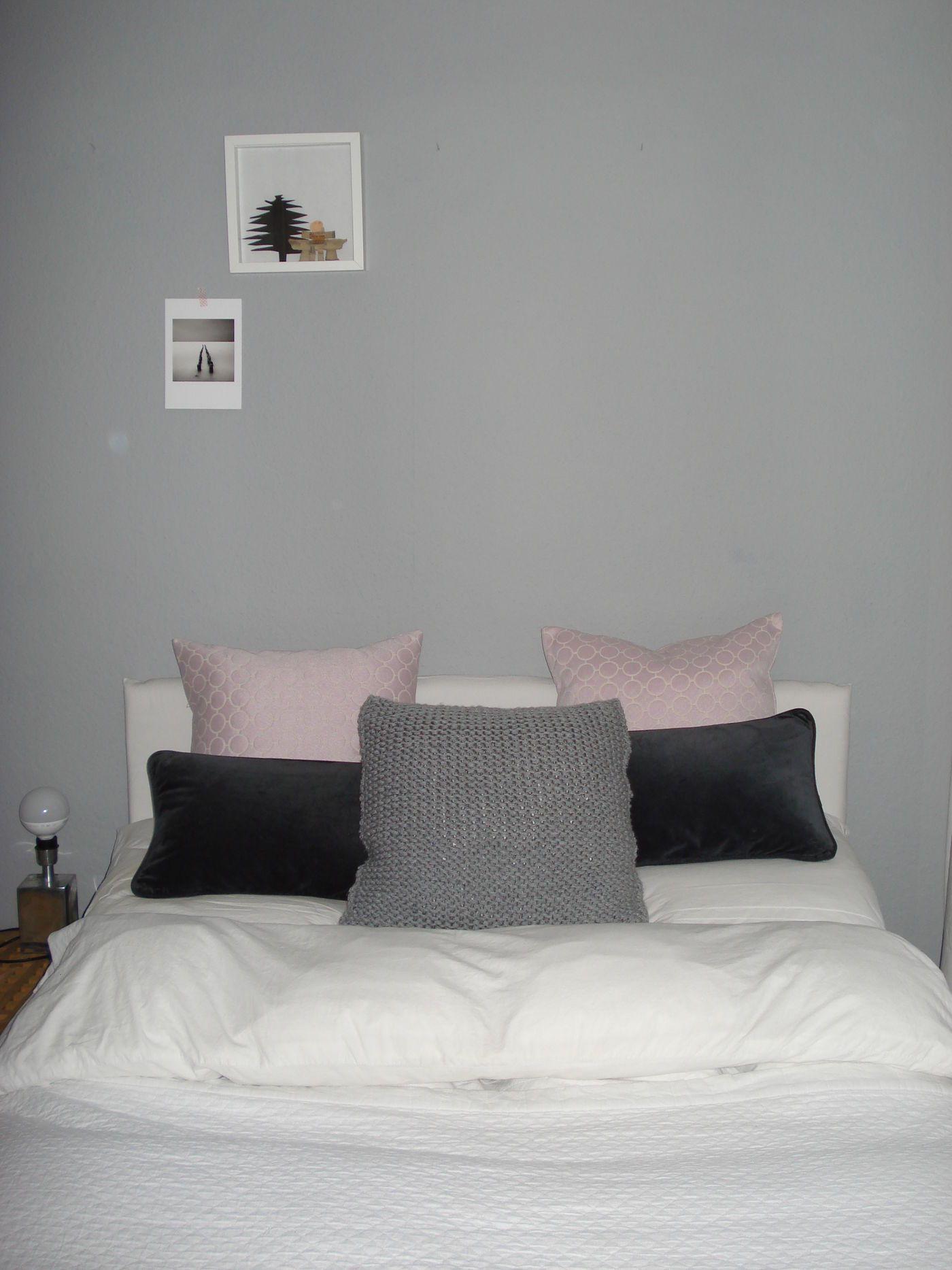 Schlafzimmer Grau Weiß Rosa