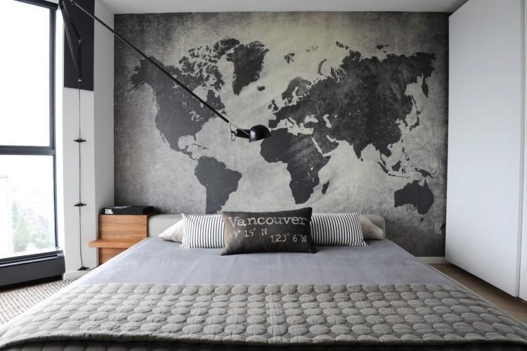 Schlafzimmer Graues Bett