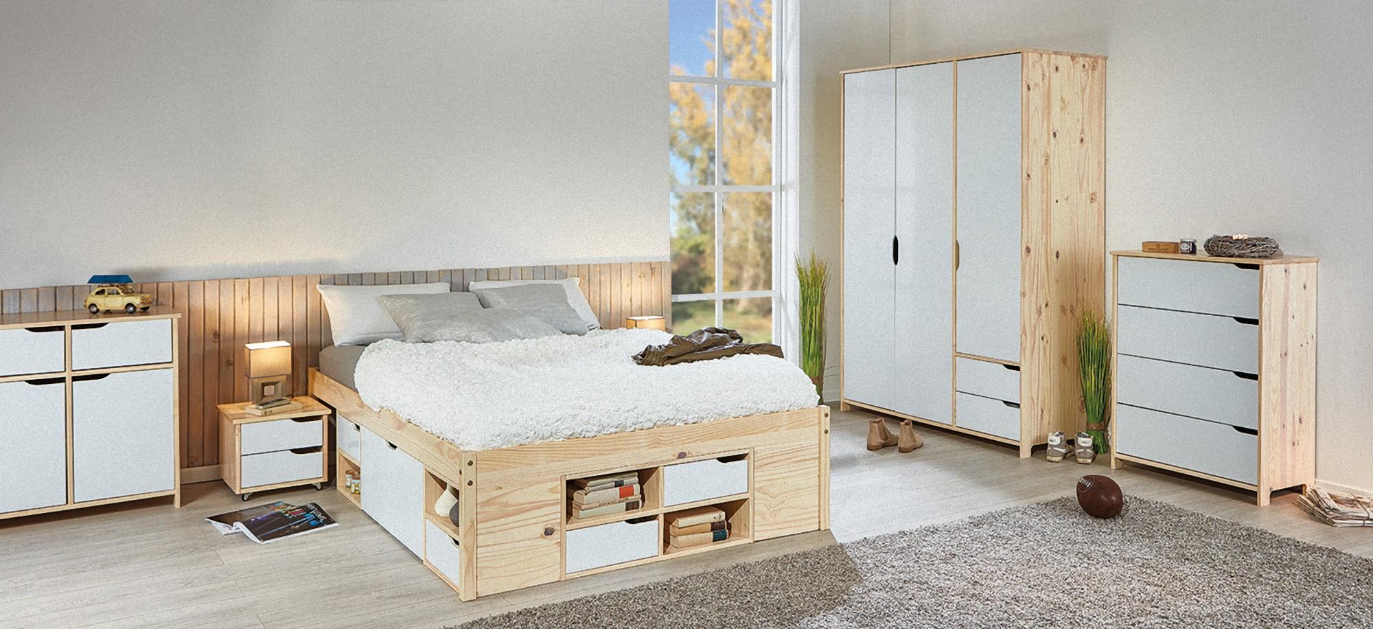 Schlafzimmer Highboard Weiß