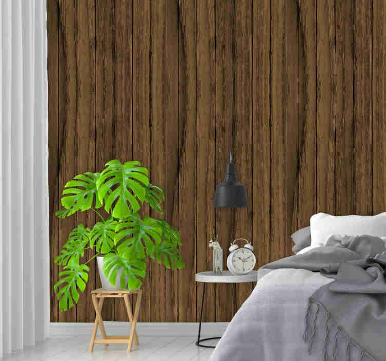 Schlafzimmer Holz Tapete