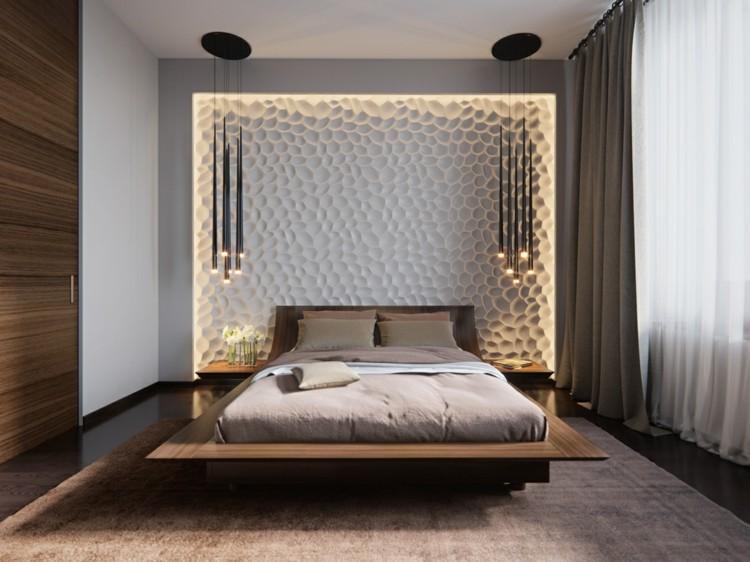 Schlafzimmer Holz Wandverkleidung Modern