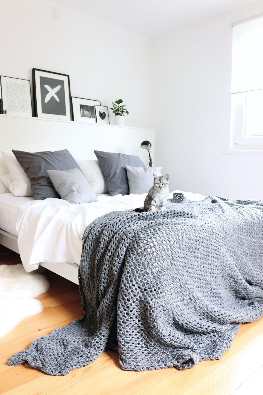 Schlafzimmer Ideen Graues Bett