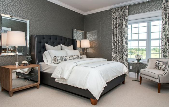 Schlafzimmer Ideen Wandfarbe Grau