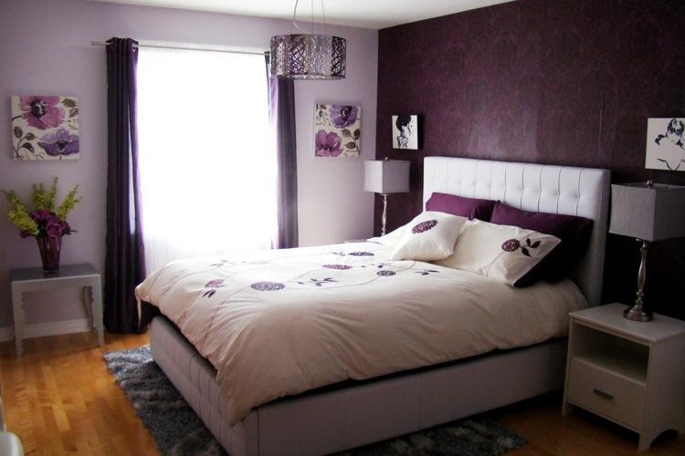 Schlafzimmer Lila Grau Streichen