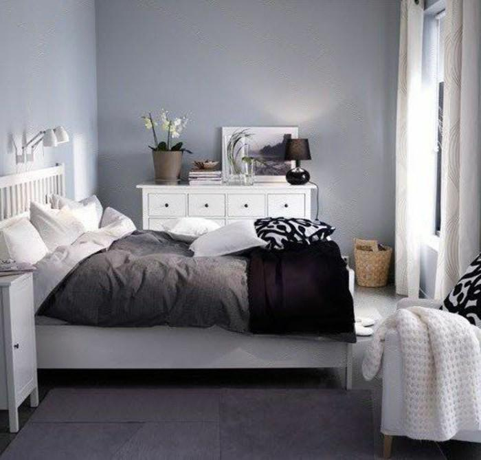 Schlafzimmer Lila Wandfarbe