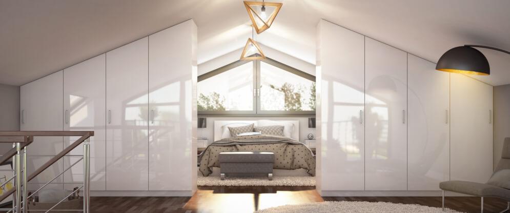 Schlafzimmer Schrank Für Dachschräge
