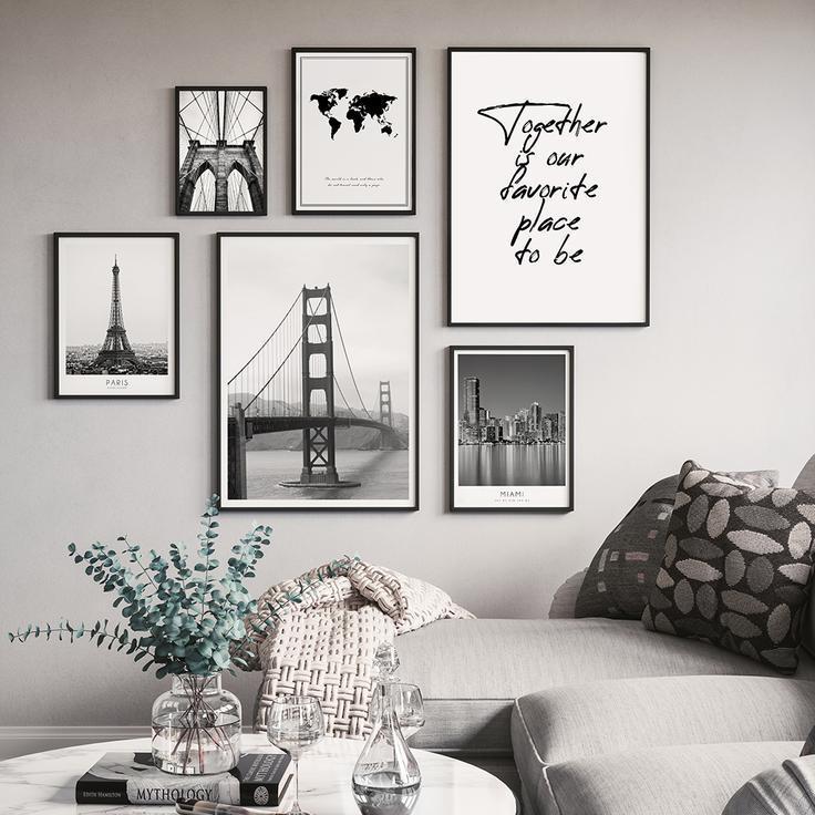 Schlafzimmer Schwarz Weiß Grau