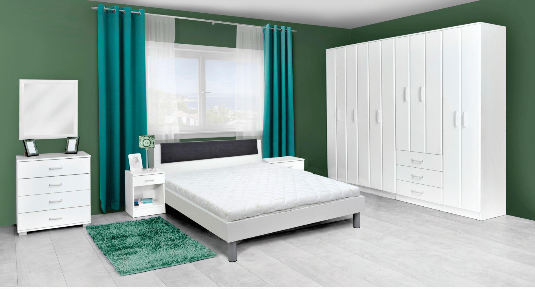 Schlafzimmer Set Weiß Grau