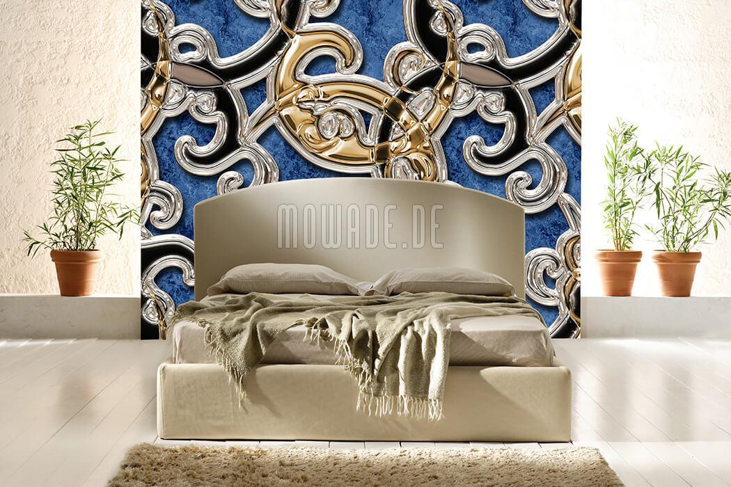 Schlafzimmer Tapete Hellblau