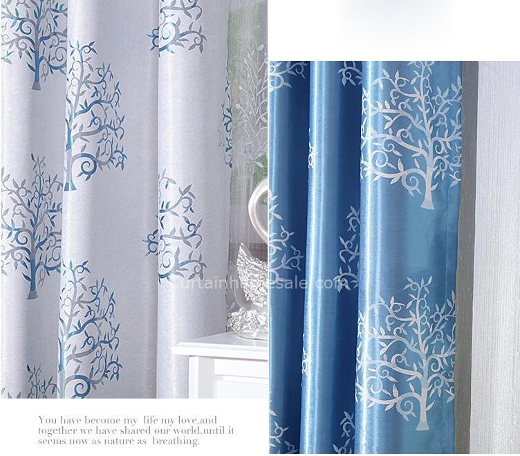 Schlafzimmer Vorhänge Blau