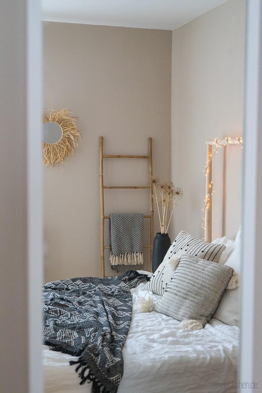 Schlafzimmer Wandfarbe Grau Beige