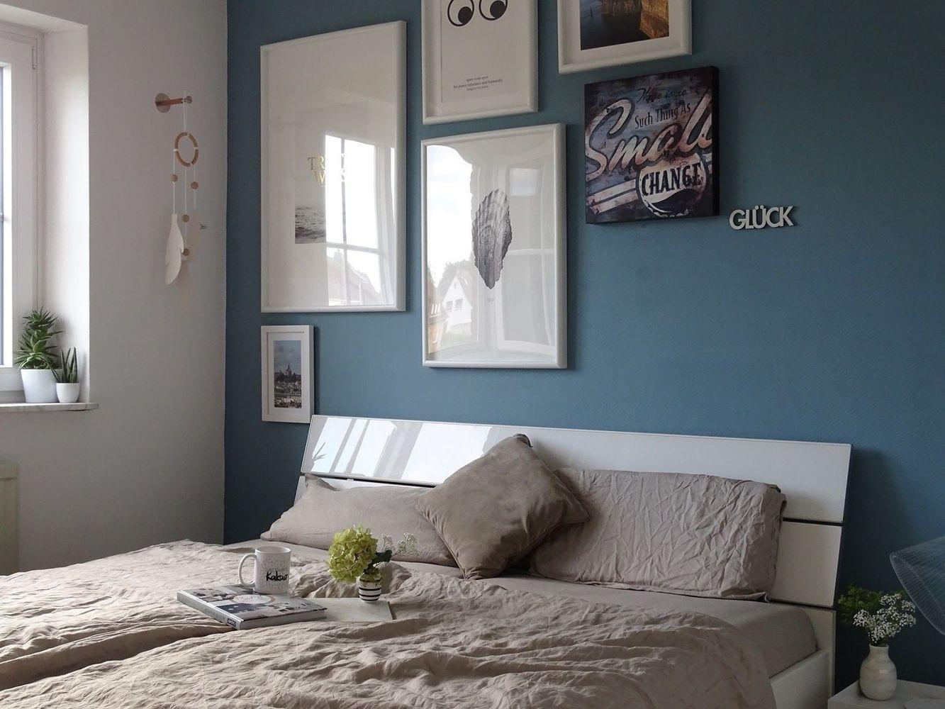 Schlafzimmer Wandfarbe Grau Grün