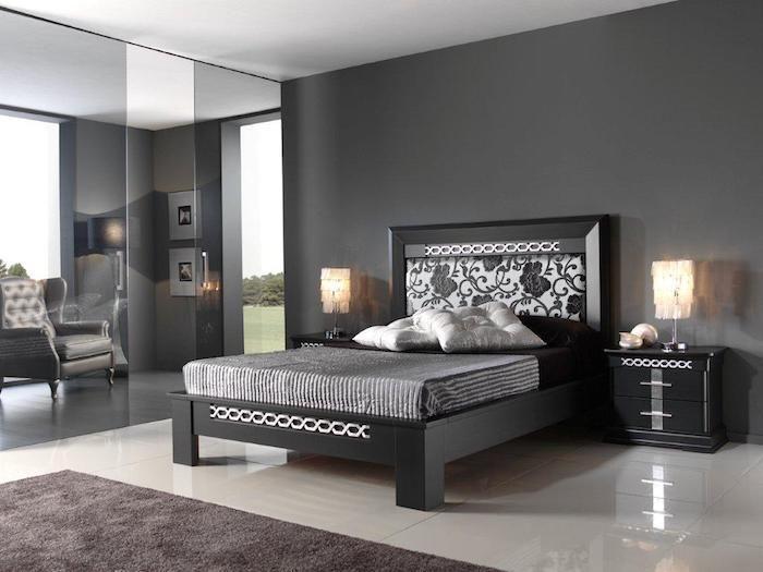 Schlafzimmer Wandfarbe Grau Kombinieren