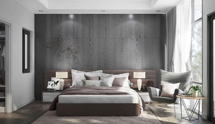 Schlafzimmer Wandgestaltung Grau