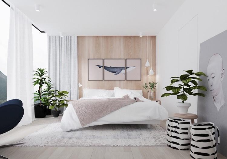 Schlafzimmer Weiß Grau Holz